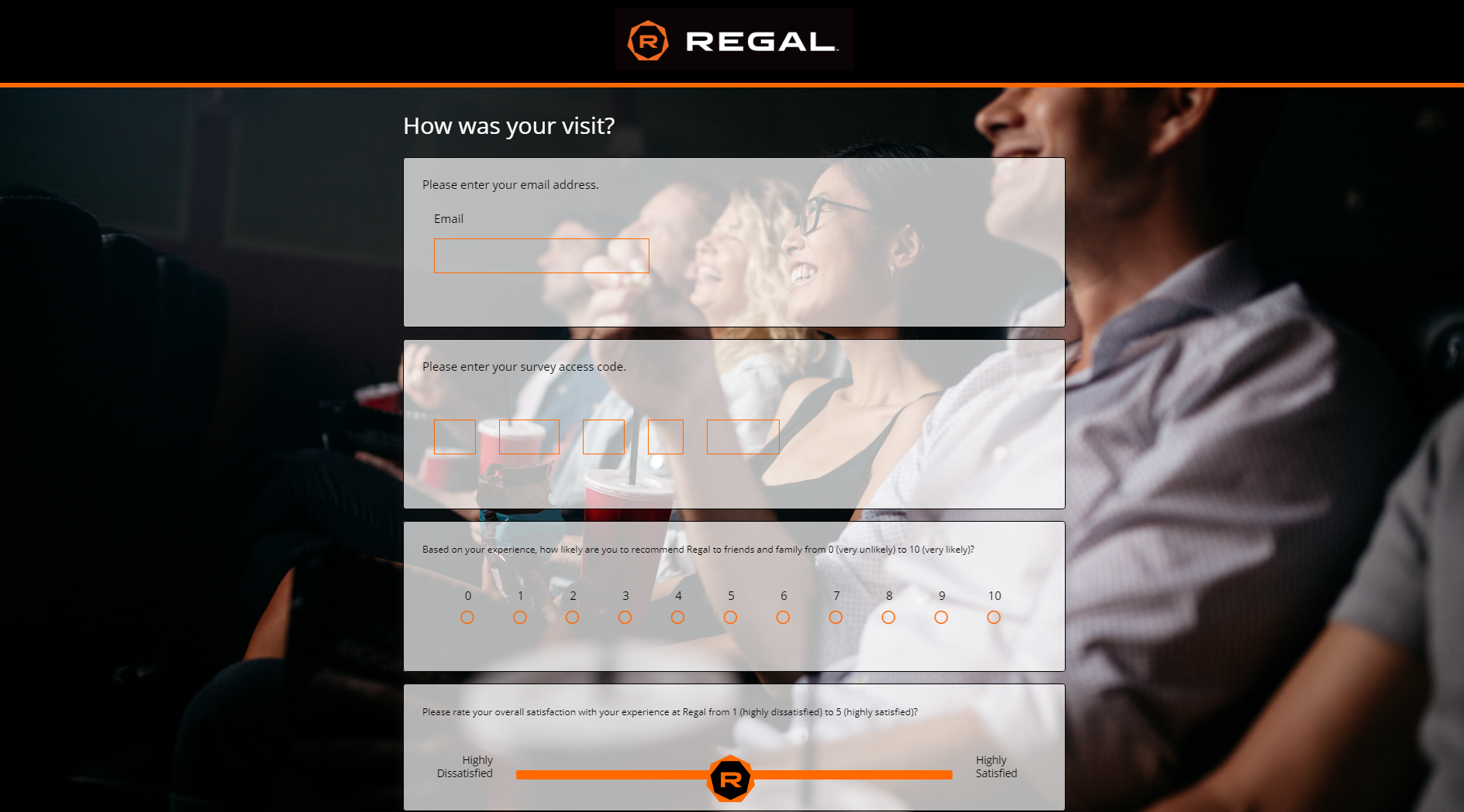 www.TalktoRegal.com - Take Regal Survey - Win $100 Gift Card