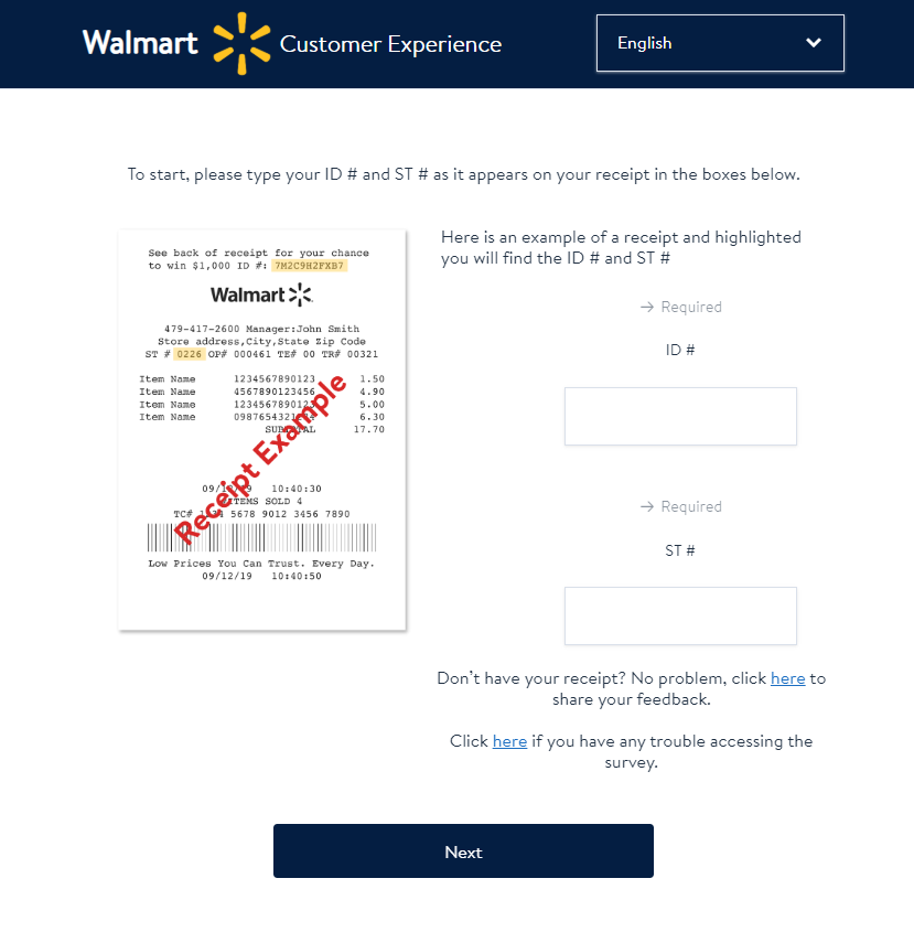 www.Survey.Walmart.com - Walmart In Store Satisfaction Survey
