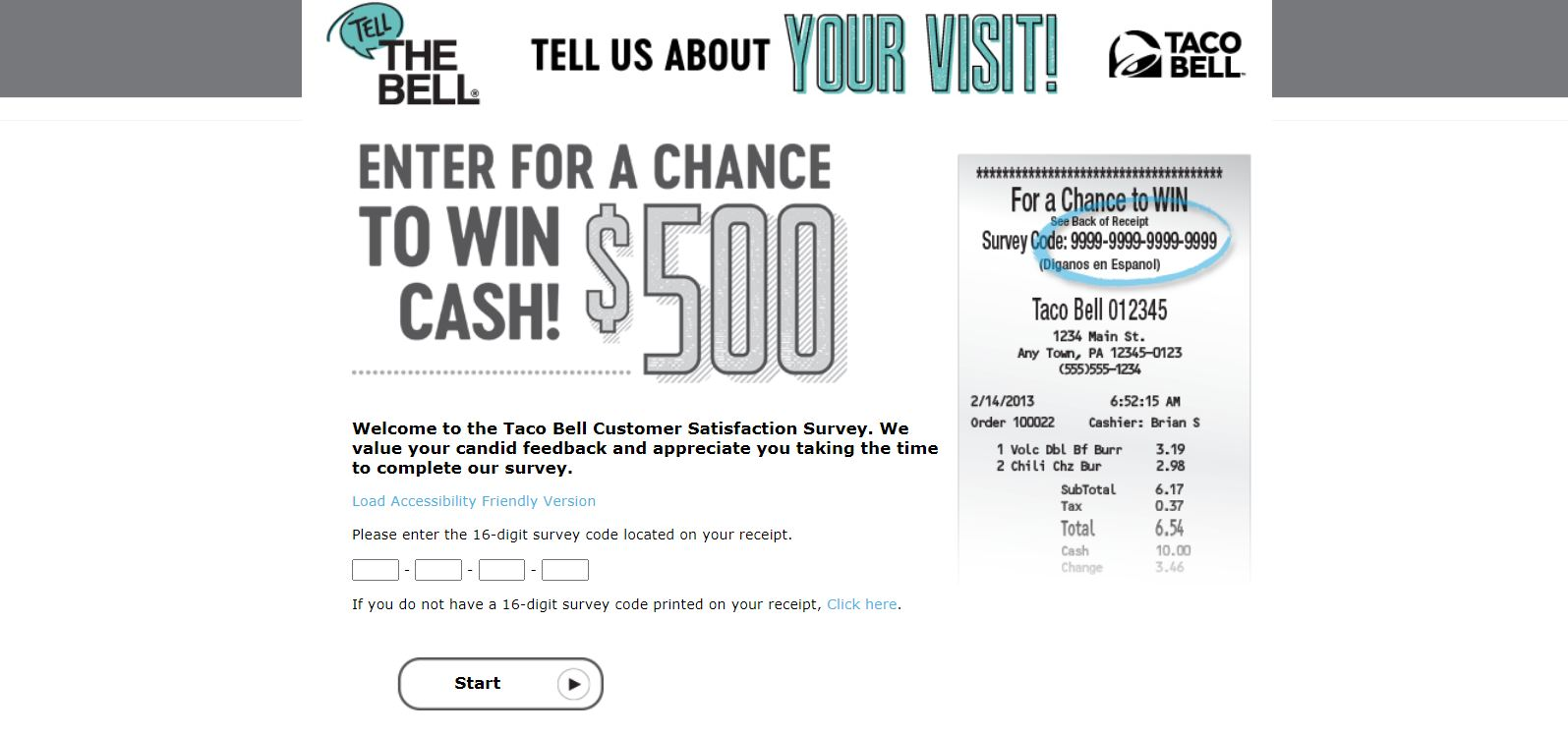 Tell the Bell - Taco Bell Customer Satisfaction Survey