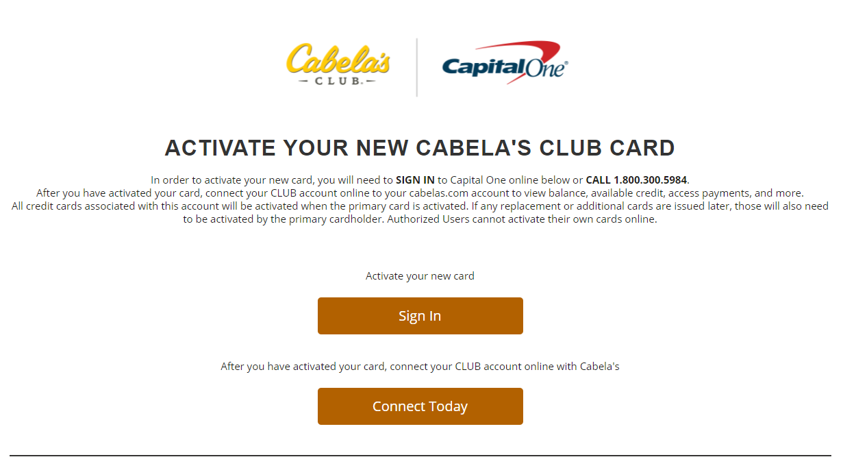 www.cabelas.com/activate - Activate Your CLUB Credit Card