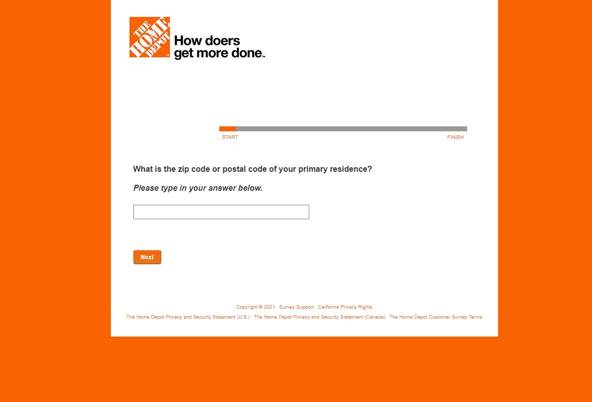 www.Homedepot.com/Survey - Win $5,000 Home Depot Gift Card