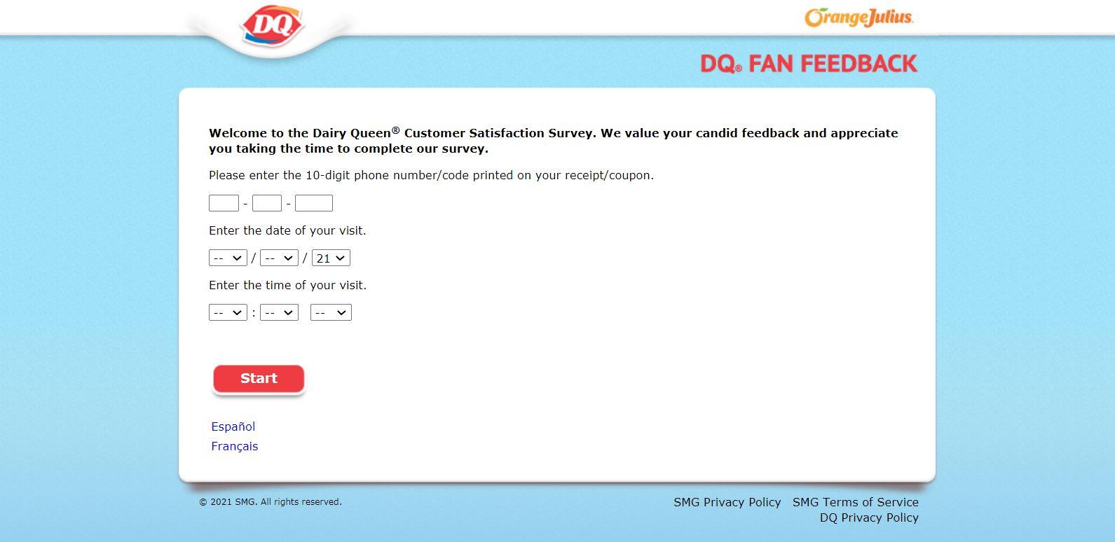 www.Dqfanfeedback.com - DQ Feedback Survey - Free Dilly Bar